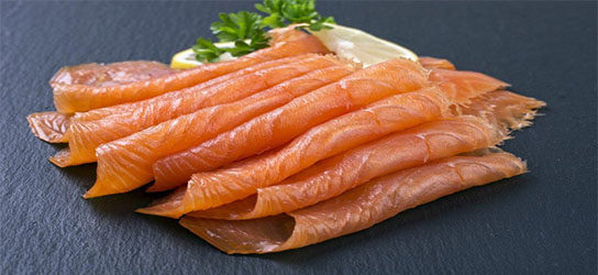 SMOKED SALMON (12 Packs of 5-6 shaved slices)
